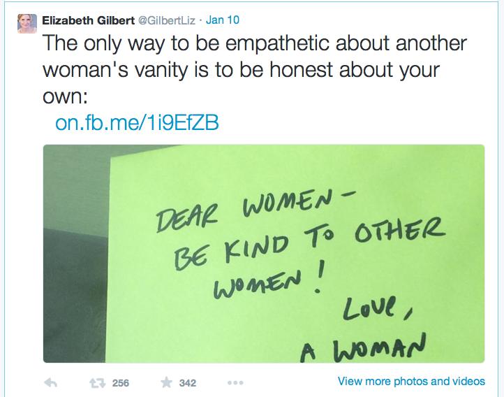 Elizabeth Gilbert twitterfeed