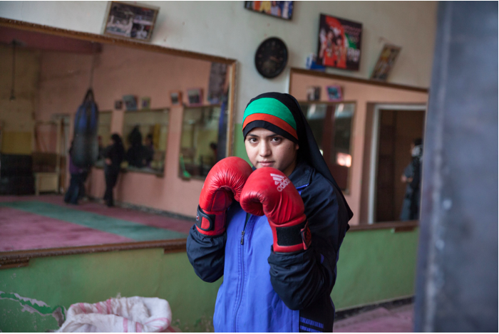Fahima Boxing by Delphine Renou via NYtimes