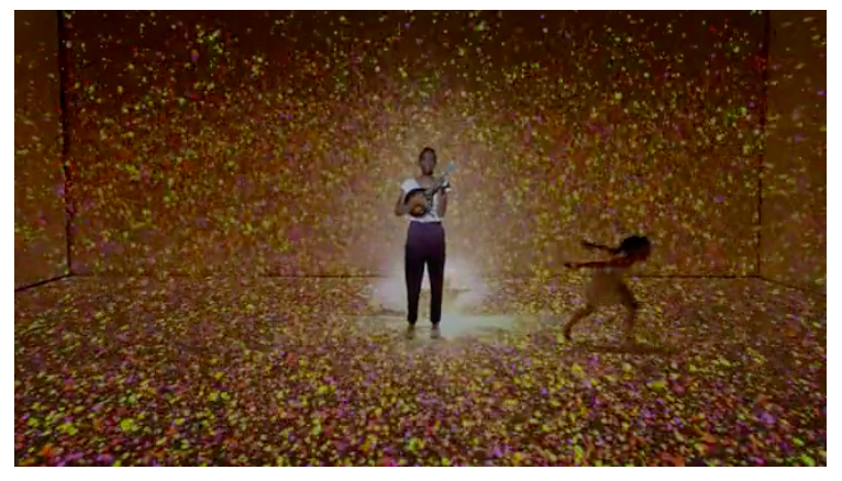 screen shot from the music video