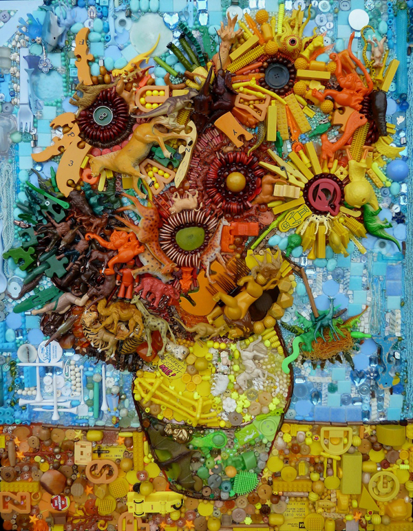 """Cindy's Sunflowers"" rework of Van Gogh, via womenyoushouldknow.net"