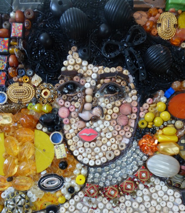 detail of Adele, rework of Gustav Klimt - via womenyoushouldknow.net