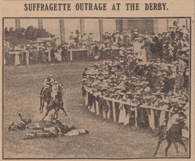 One hundred years ago English suffragette Emily Davison stepped in front of the king's horse at the Derby to draw attention to the long and difficult campaign to win the vote. pinterest.com