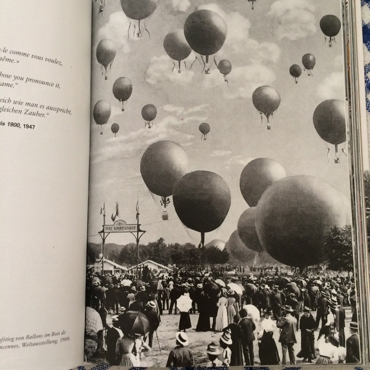 Release of balloons in the Bois de Vincennes during the Exposition universelle, 1900 (anon)
