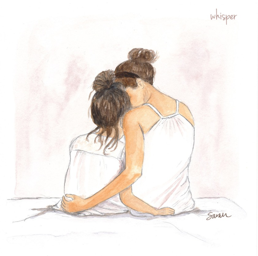 mother-daughter by DRAWINGSARAH