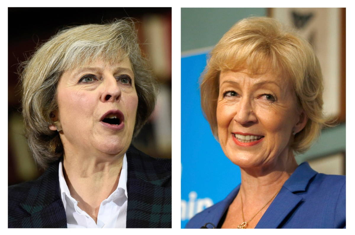 THERESA MAY (L) AND ANDREA LEADSOM (REUTERS)